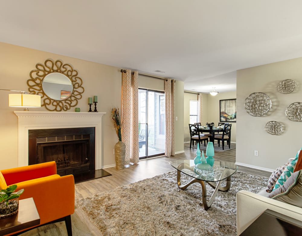 Model Living Room at Eagle Rock Apartments at Columbia in Columbia, Maryland