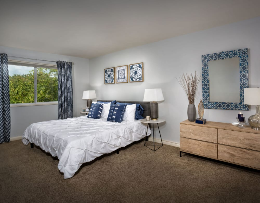Spacious bedroom with a closet at Admiral Place Apartments in Suitland, Maryland