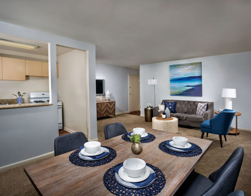 Spacious living room at Admiral Place Apartments in Suitland, Maryland