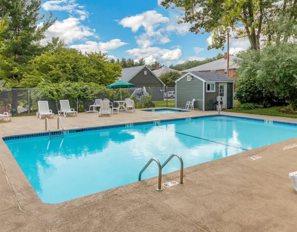 Dazzling blue pool at Eagle Rock Apartments at Nashua in Nashua, New Hampshire
