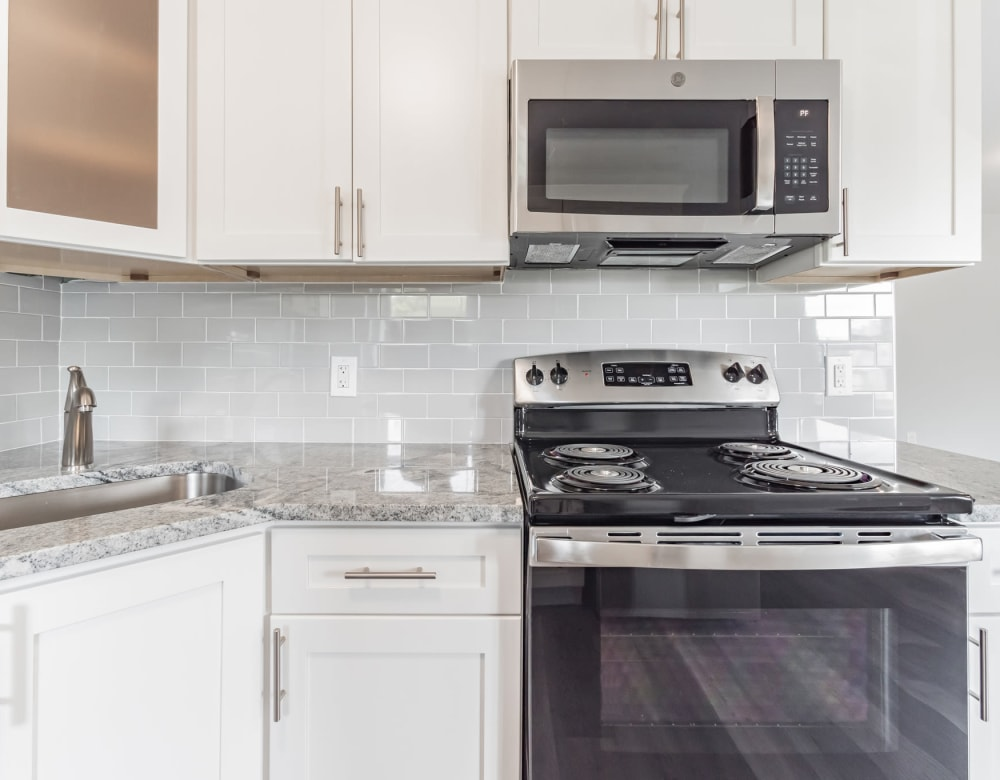 Kitchen at Bunt Commons III in Amityville, New York