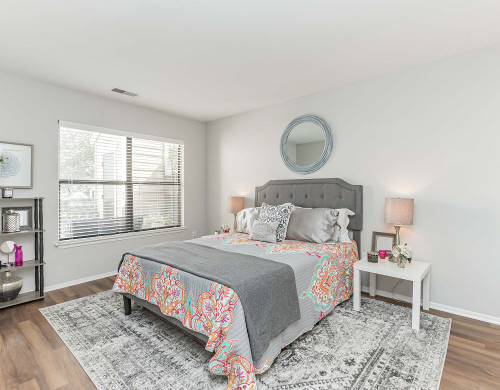 Spacious bedroom with large window at Eagle Rock Apartments at Columbia in Columbia, Maryland