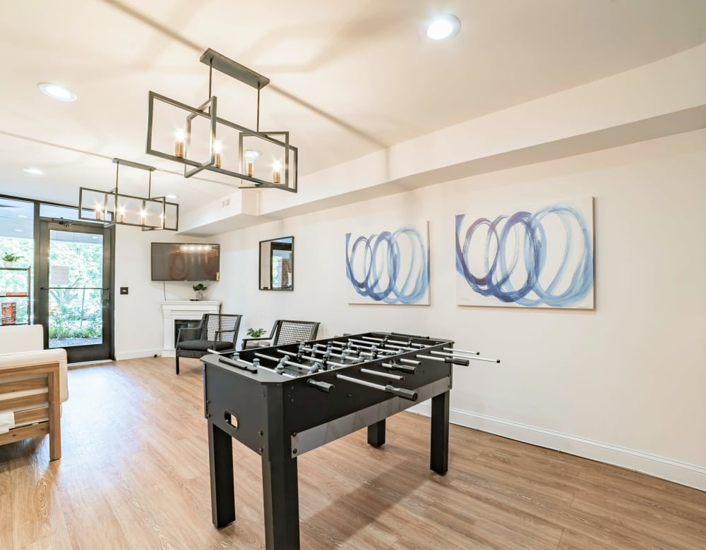 Foosball table in the game room at Eagle Rock Apartments at Towson in Towson, Maryland