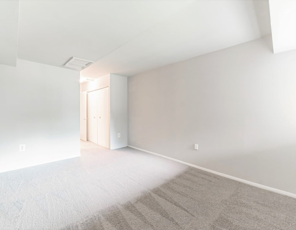 Large primary bedroom in an apartment at Eagle Rock Apartments at Towson in Towson, Maryland