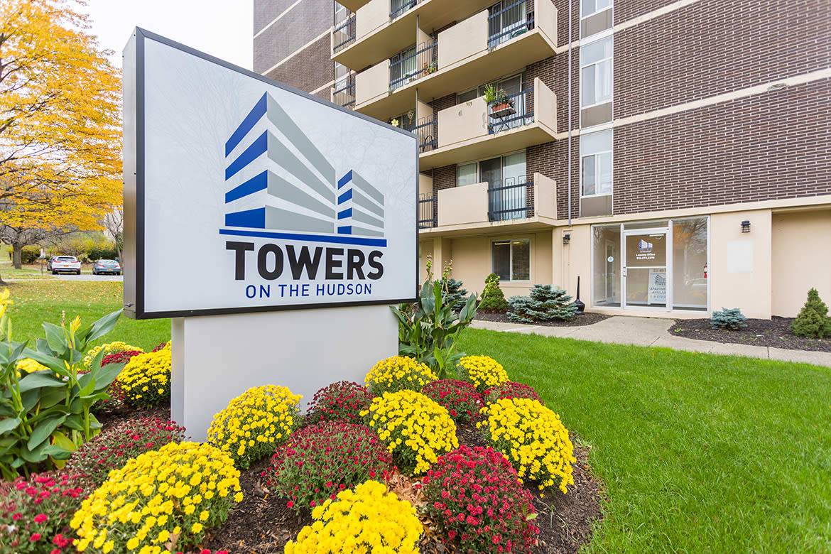 Front exterior at Towers on the Hudson in Troy, NY