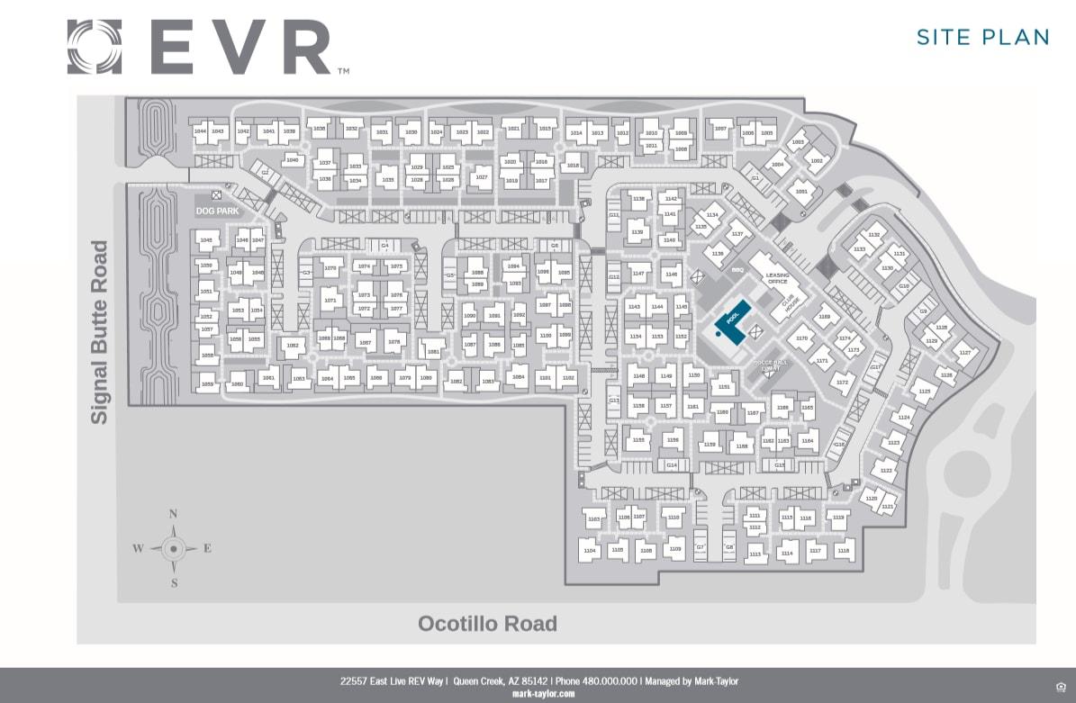 EVR Spur Cross site plan
