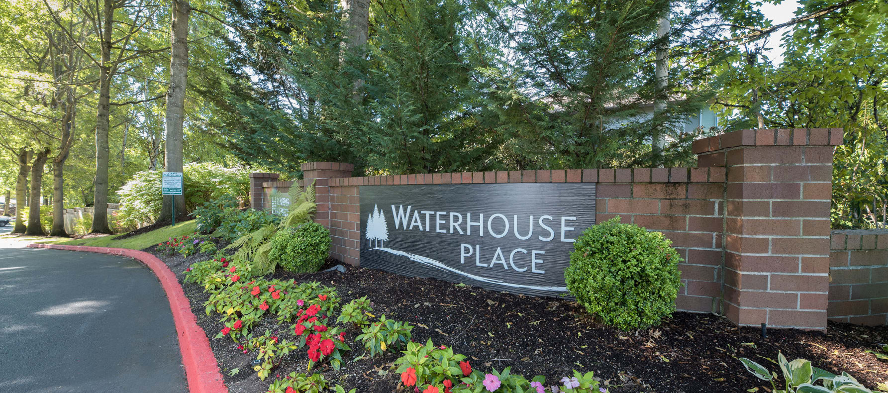 Entrance Sign at Waterhouse Place in Beaverton, OR