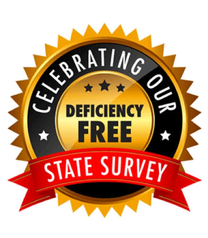 Woodholme Gardens celebrates a deficiency free state survey