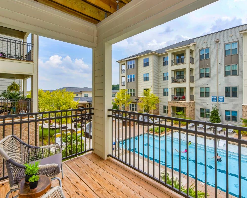 Private patio at Axis Berewick in Charlotte, North Carolina