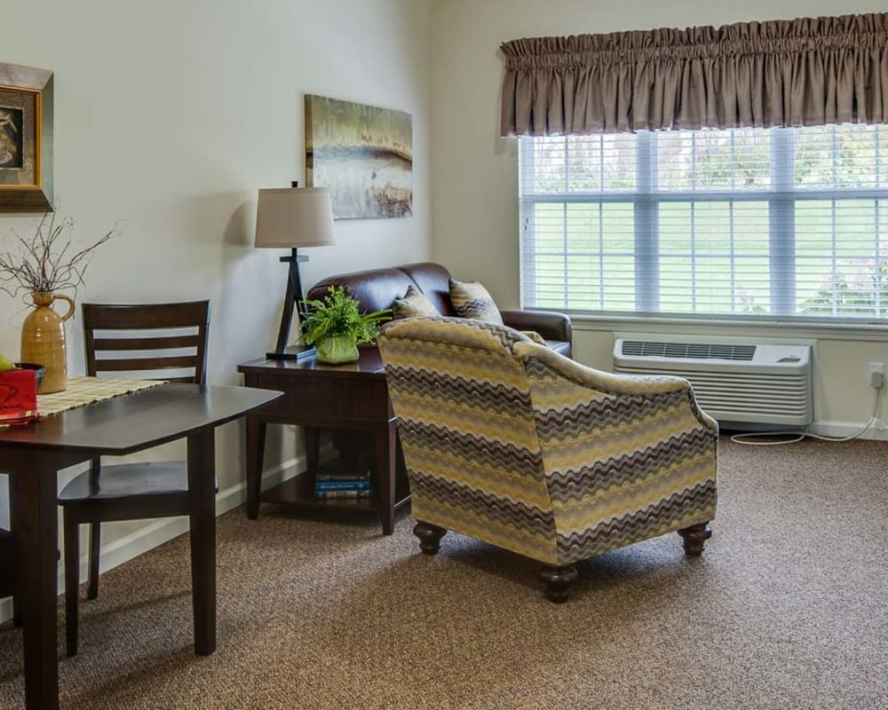 Living space at Monterey Village in Lawrence, Kansas
