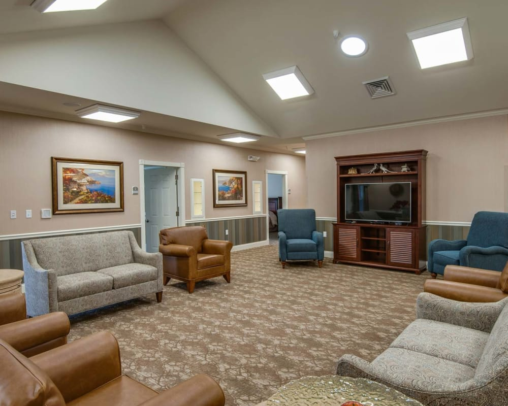 Tv area at Centennial Pointe Senior Living in Springfield, Illinois