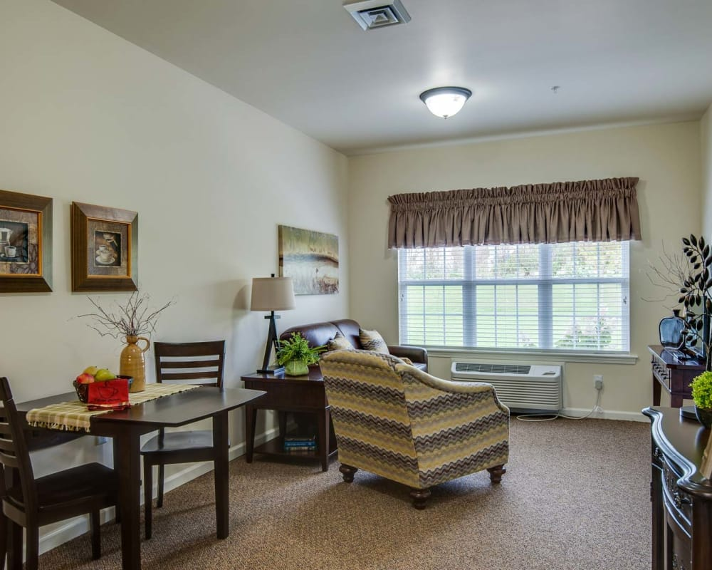 Model Apartment at Centennial Pointe Senior Living in Springfield, Illinois