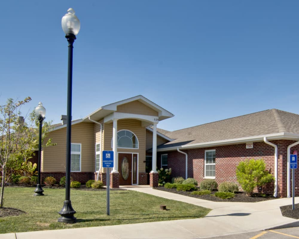 Front entrance at Sugar Creek Senior Living in Troy, Missouri