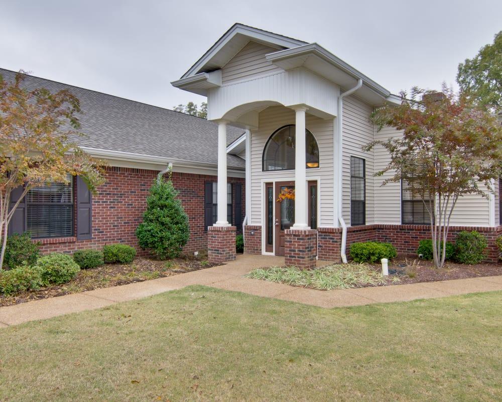 Front entrance at Olive Grove Terrace Senior Living in Olive Branch, Mississippi