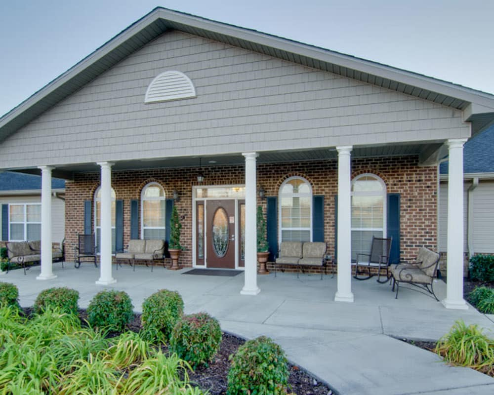 Front entrance at Willow Springs Senior Living in Spring Hill, Tennessee