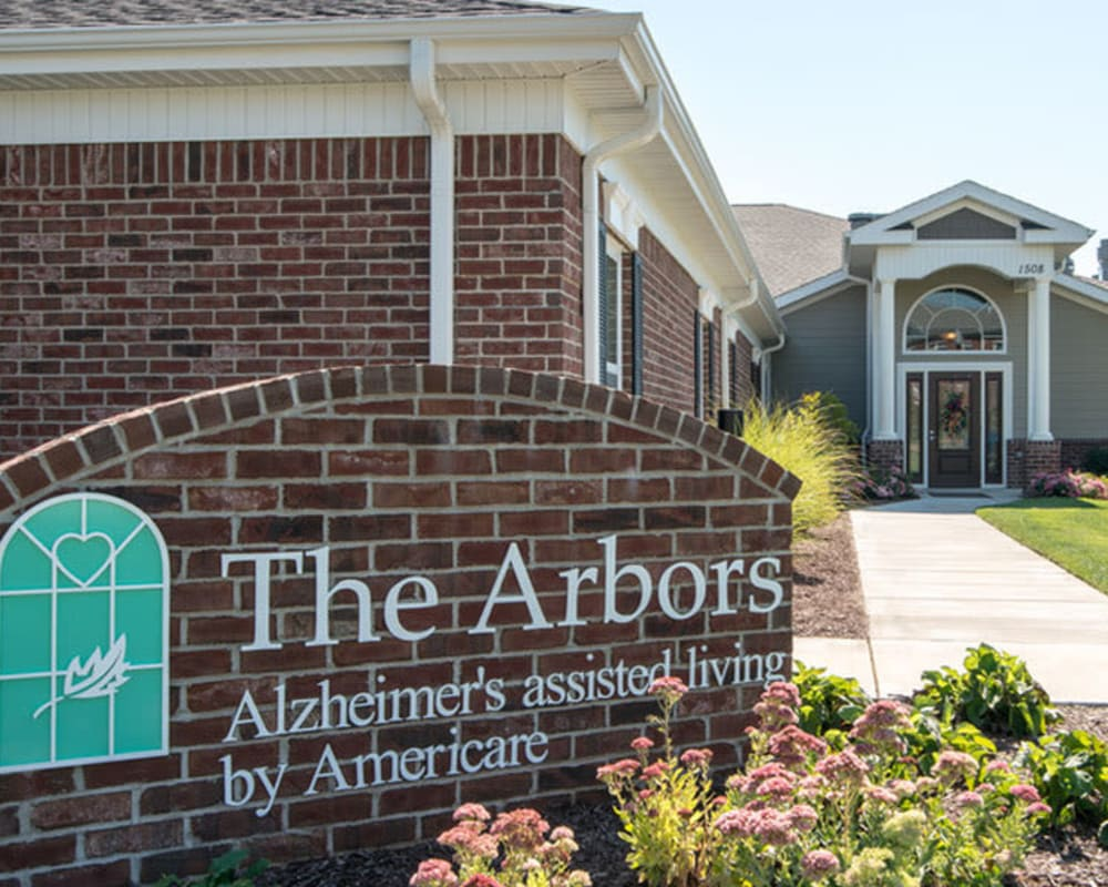 Front entrance at Colony Pointe Senior Living in Columbia, Missouri