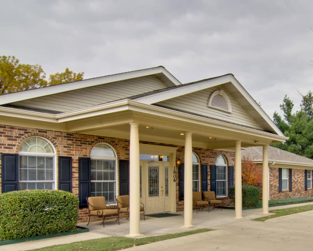 Front entrance at St. Francis Park Senior Living in Kennett, Missouri