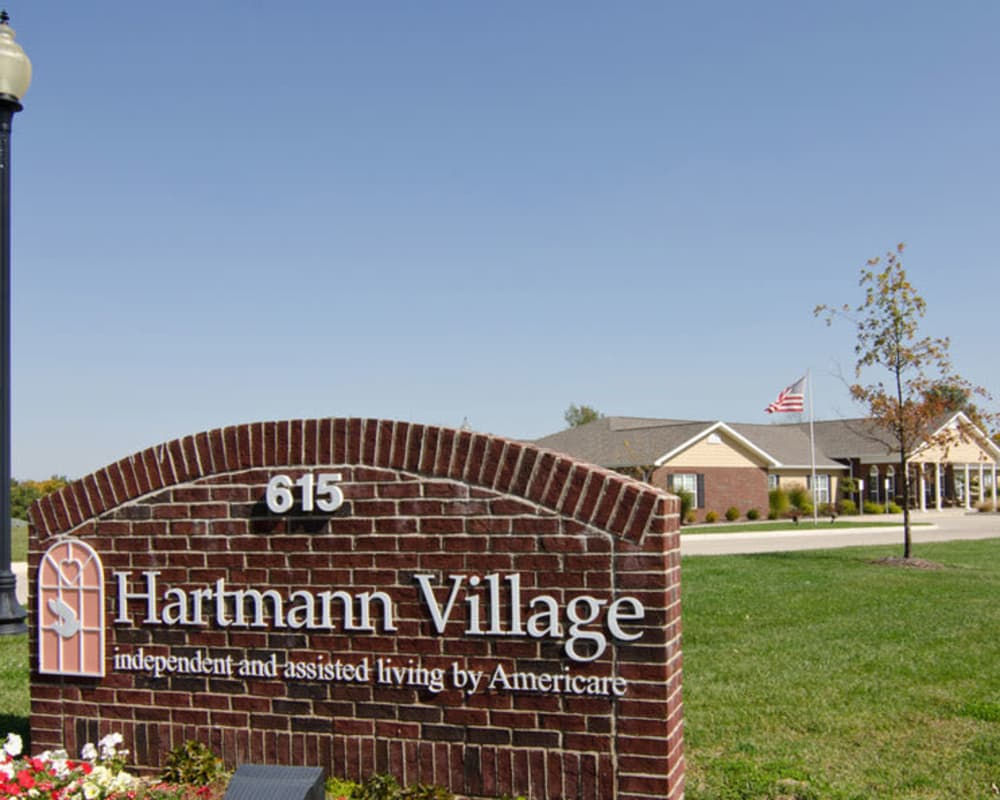 Front entrance at Hartmann Village Senior Living in Boonville, Missouri