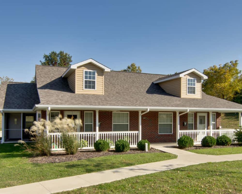 The cottages at Hartmann Village Senior Living in Boonville, Missouri