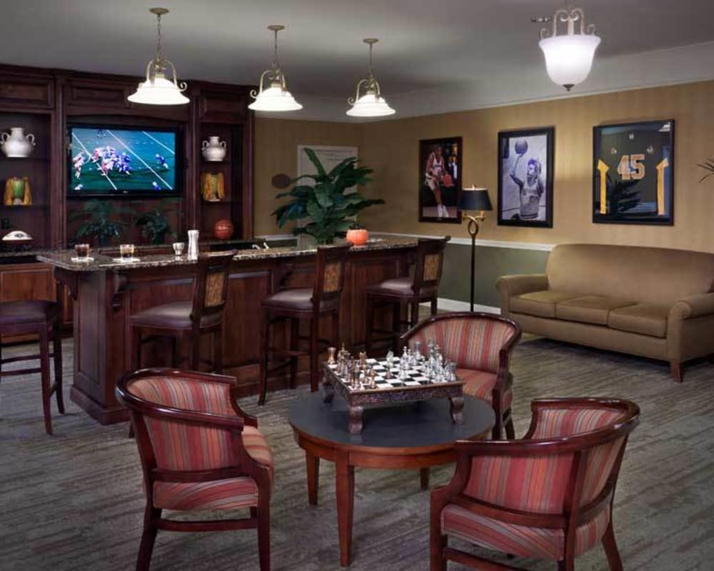 Entertainment room at Tiger Place in Columbia, Missouri