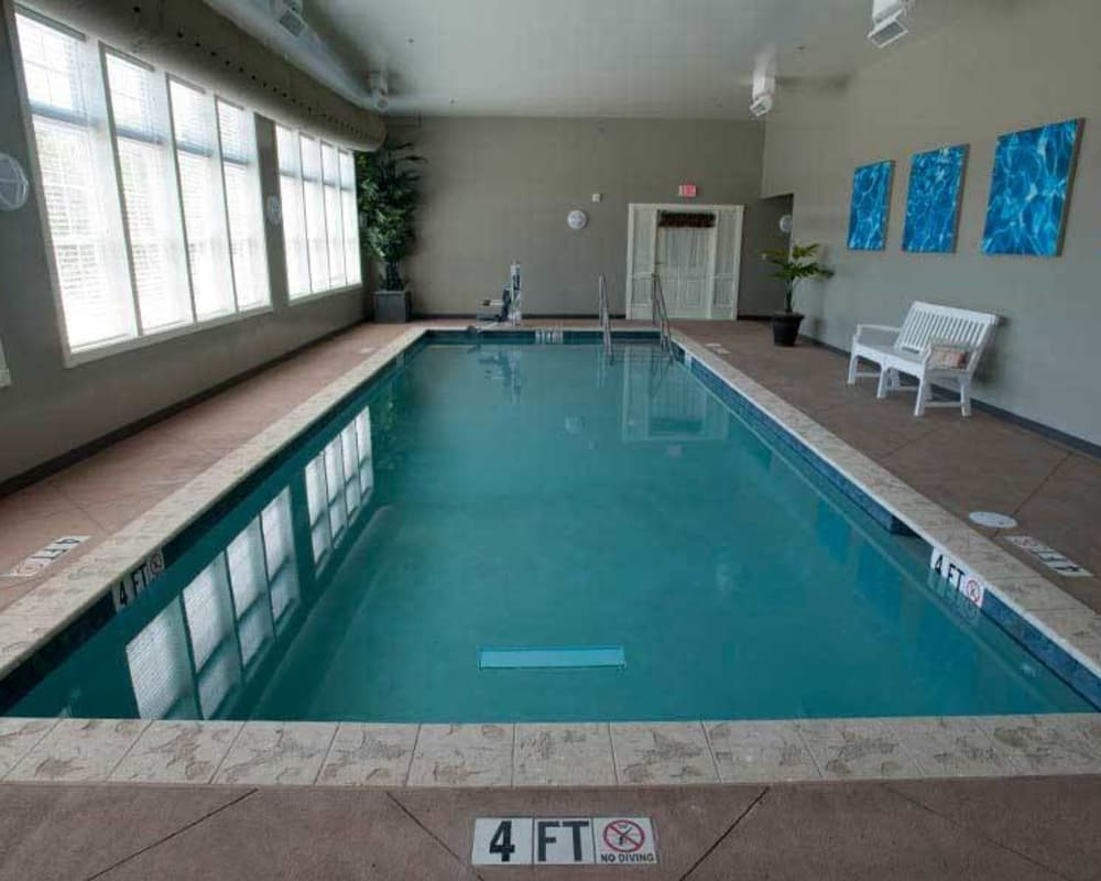 Community pool at Tiger Place in Columbia, Missouri