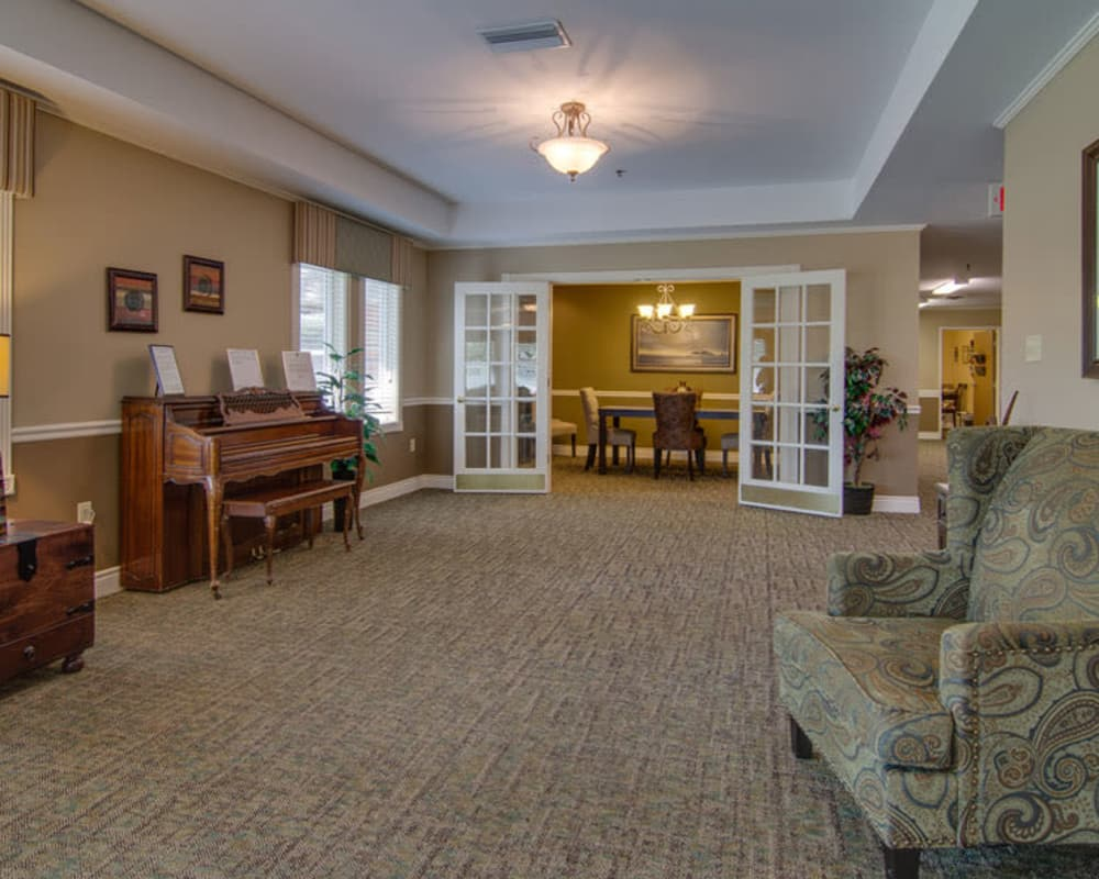 Cozy lounge area at North Point in Paola, Kansas