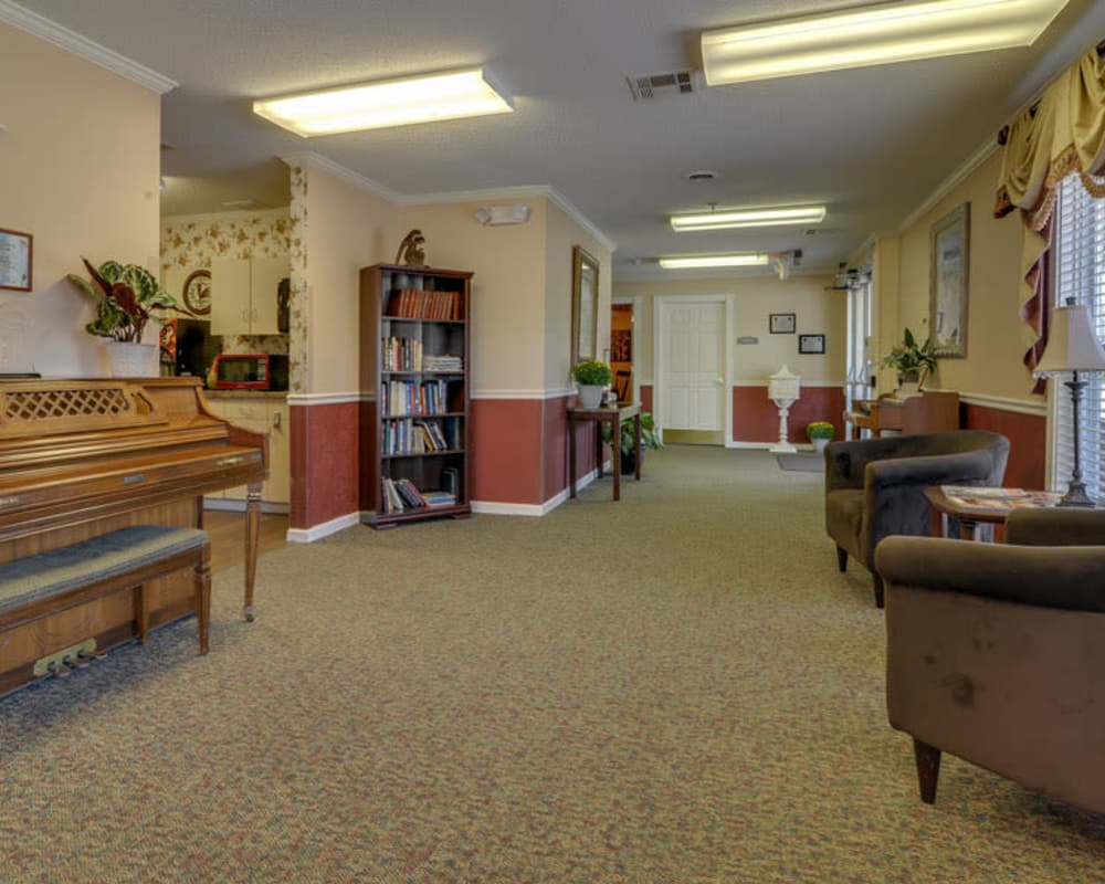 Cozy music area at Galena Nursing Center in Galena, Kansas