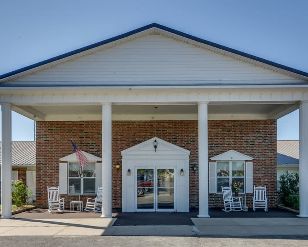 Main entrance at Pleasant Valley in Sedan, Kansas
