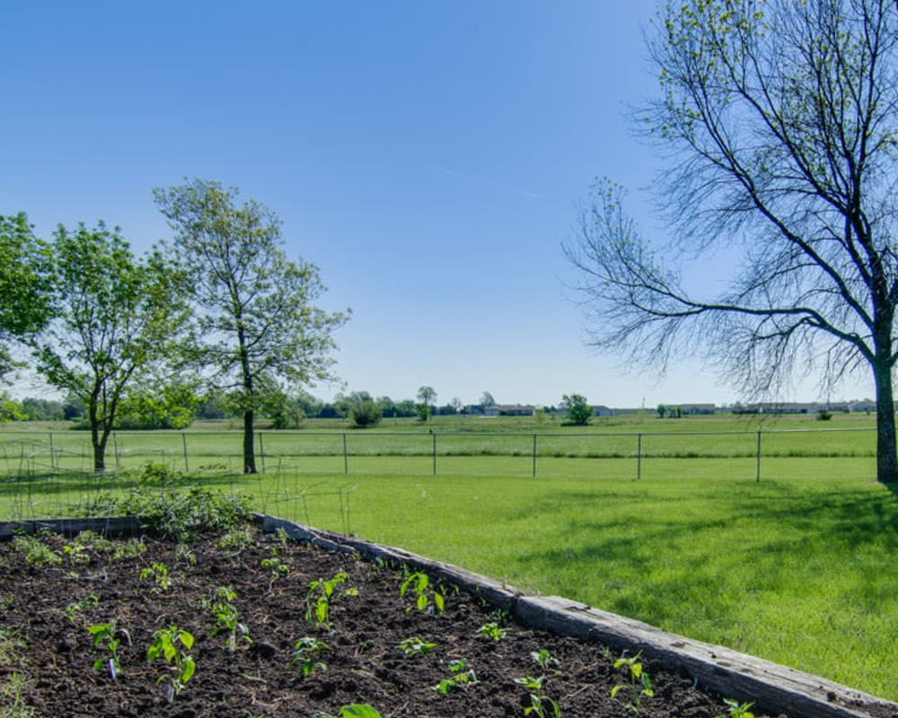 Community garden at Osage Nursing Center in Osage City, Kansas