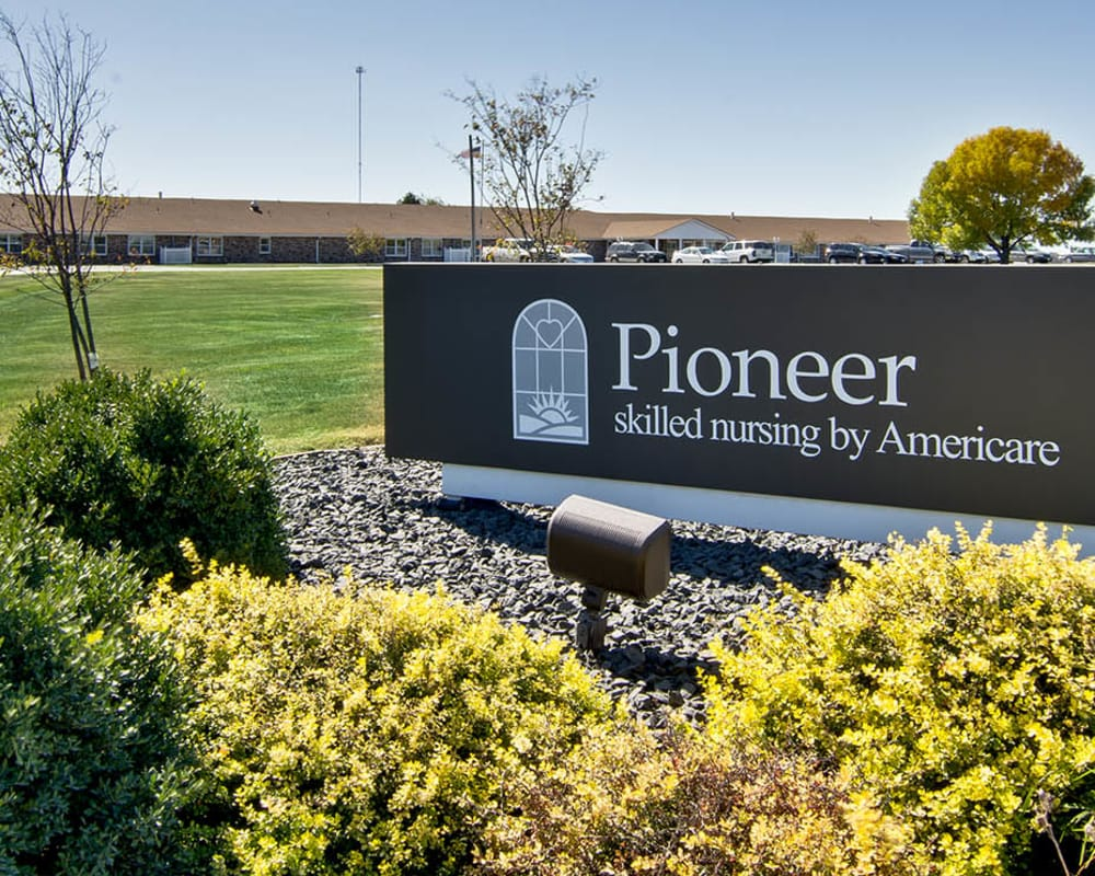 Front entrance at Pioneer in Marceline, Missouri