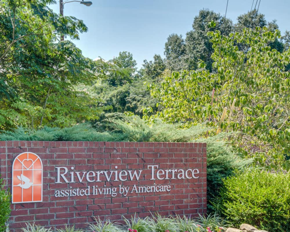 Main sign at Riverview Terrace in McMinnville, Tennessee