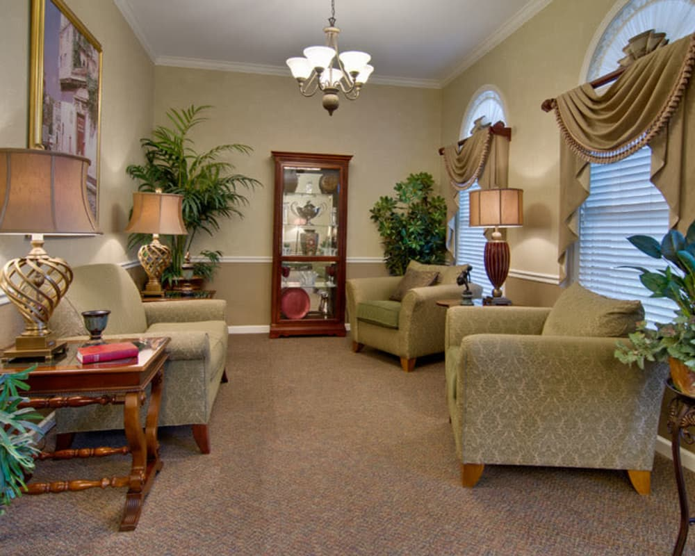 Quiet reading lounge at Park View Meadows in Murfreesboro, Tennessee
