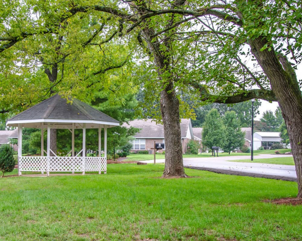 Gazebo in the backyard at Ashbrook in Farmington, Missouri
