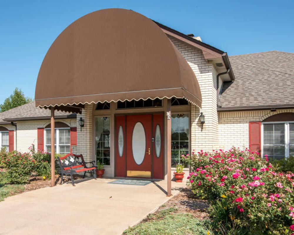 Front entrance at Oswego Home Place in Oswego, Kansas