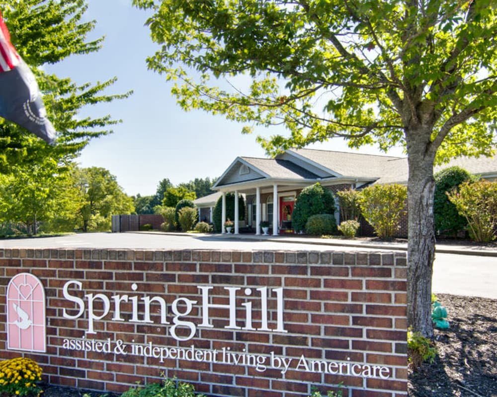 Main sign at SpringHill in Neosho, Missouri