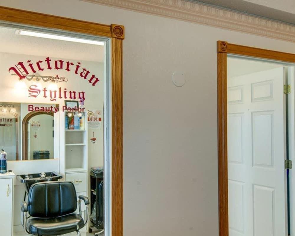 Resident hair salon at Victorian Place of Hermann in Hermann, Missouri