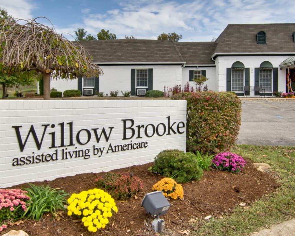 Main sign at Willow Brooke in Union, Missouri