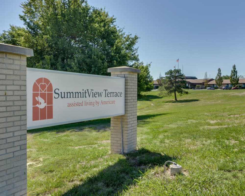 Main sign at SummitView Terrace in Kansas City, Missouri