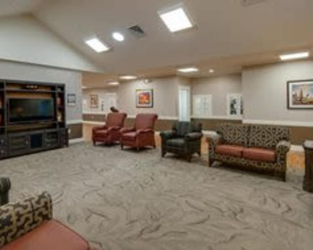 Cozy entertainment area at The Arbors at Parkside in Rolla, Missouri