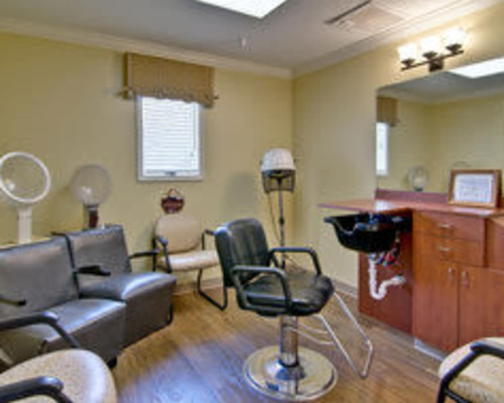 Resident hair salon at The Arbors at Parkside in Rolla, Missouri
