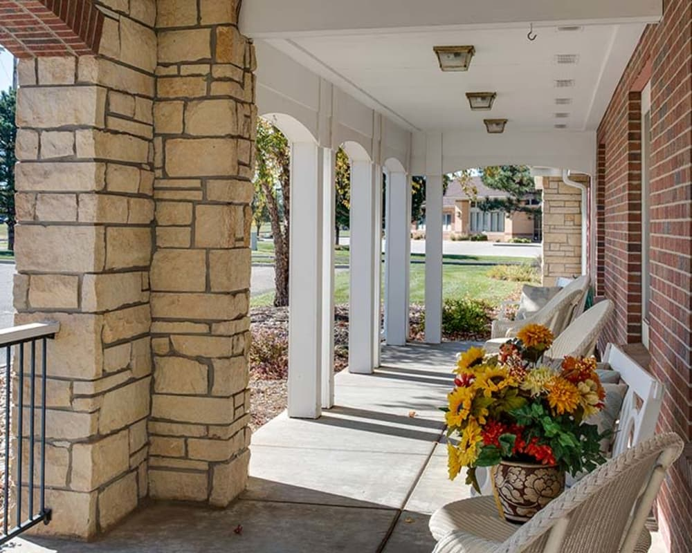 Front entrance at Waldron Place Senior Living in Hutchinson, Kansas