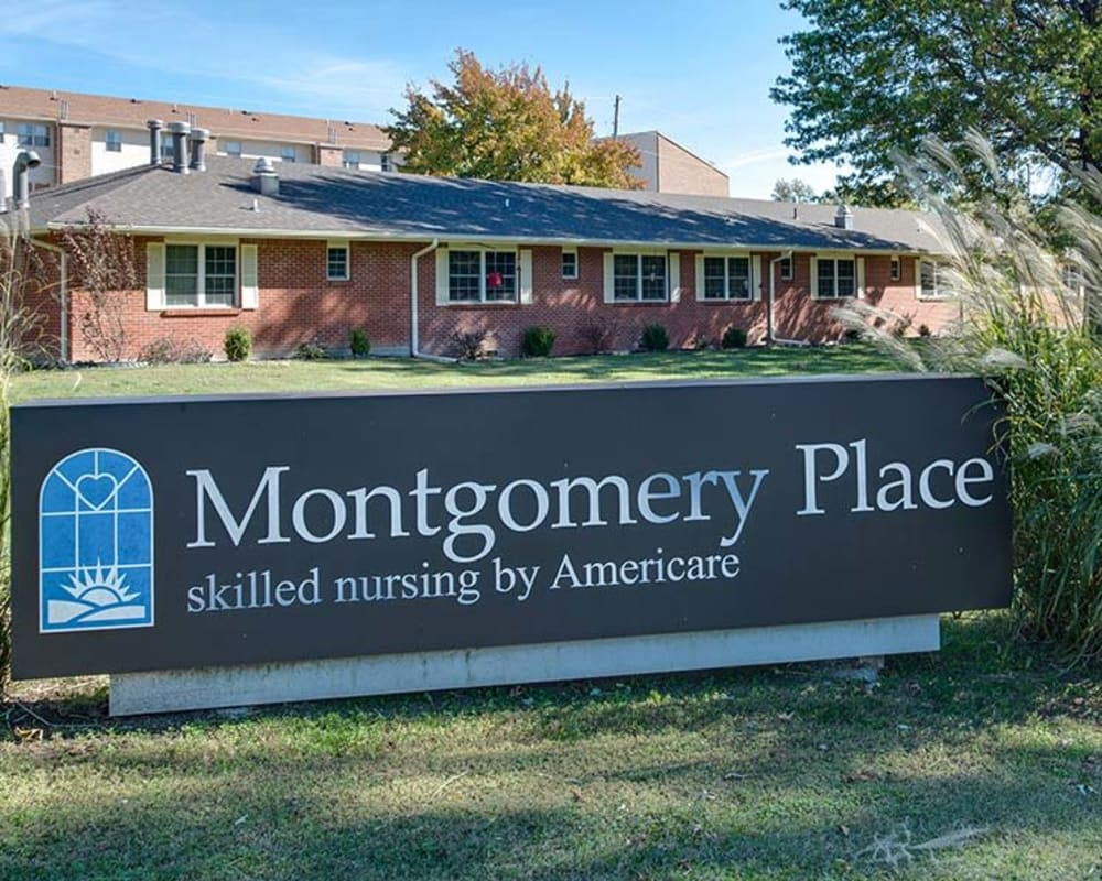 Front entrance at Montgomery Place in Independence, Kansas