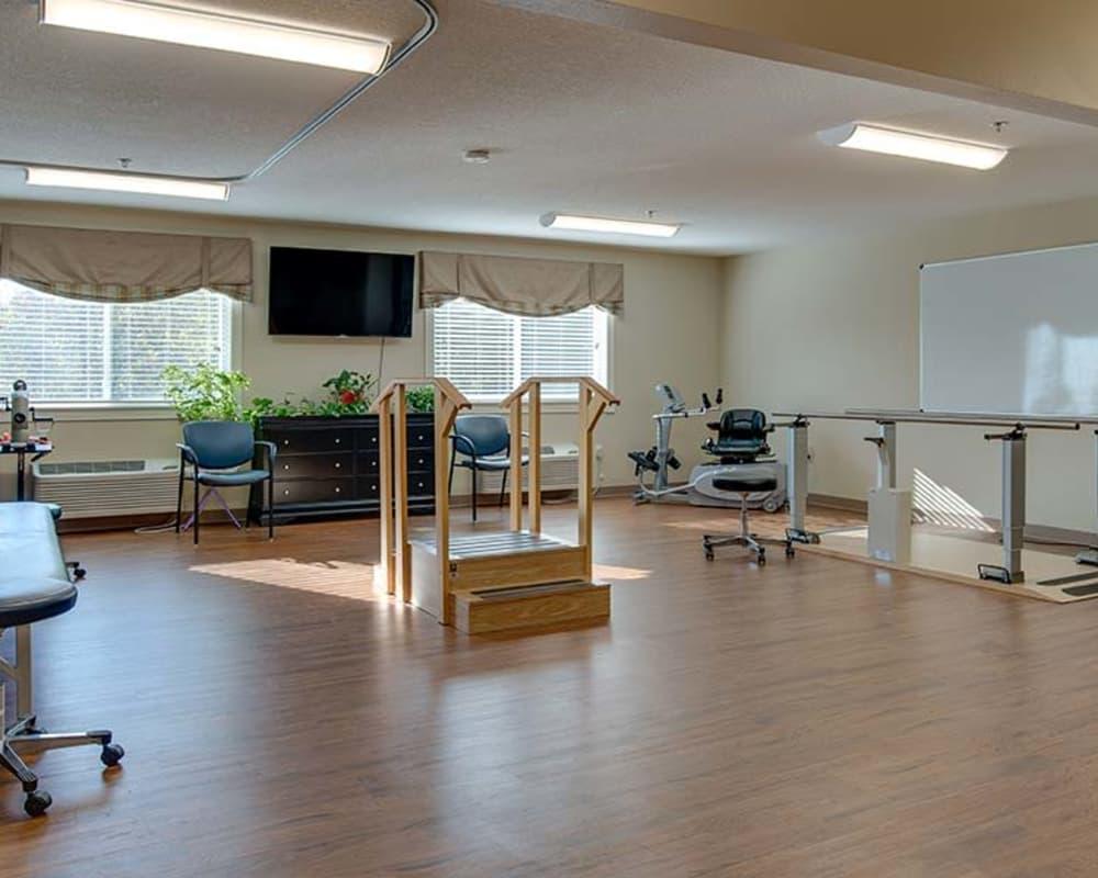 Skilled nursing gym at Galena Nursing Center in Galena, Kansas