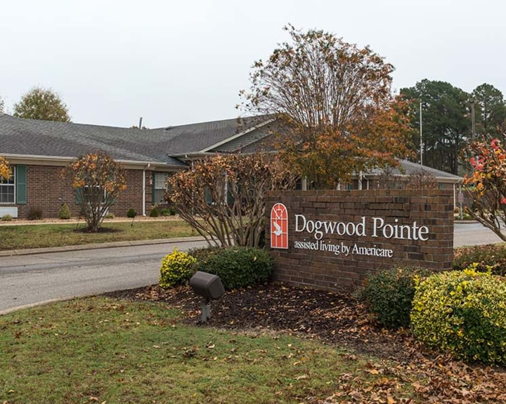 Main sign at Dogwood Pointe in Milan, Tennessee