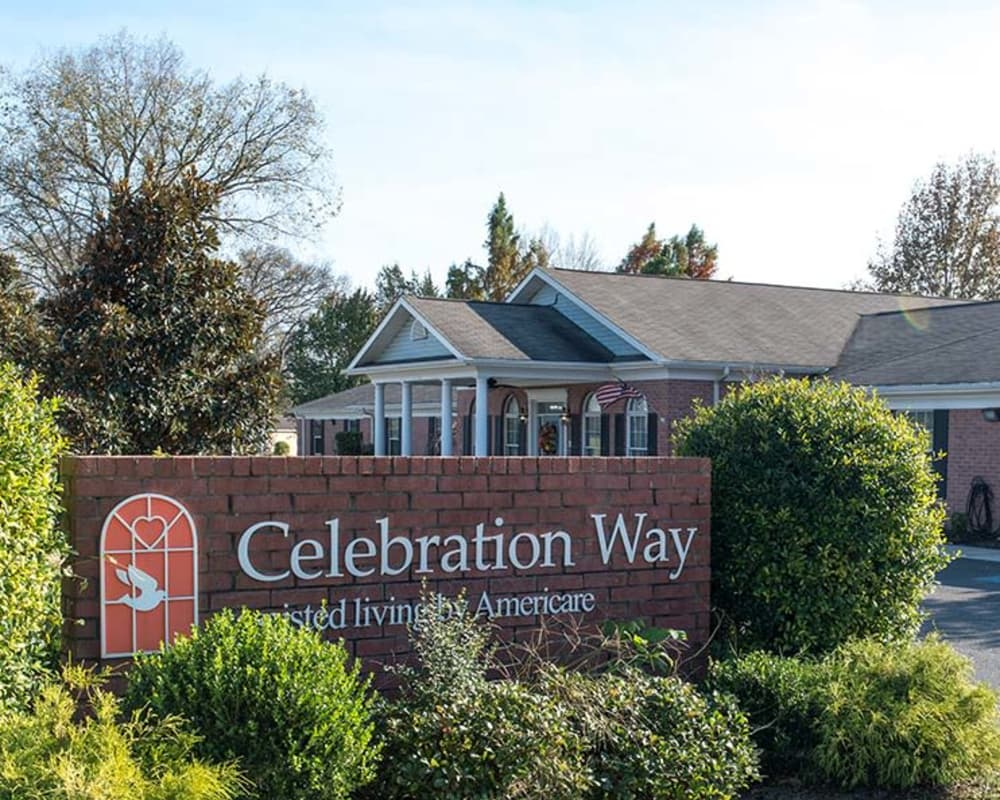 Main sign at Celebration Way in Shelbyville, Tennessee