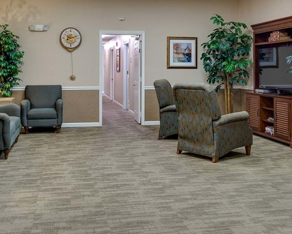 Entertainment room at Autumn Oaks in Manchester, Tennessee