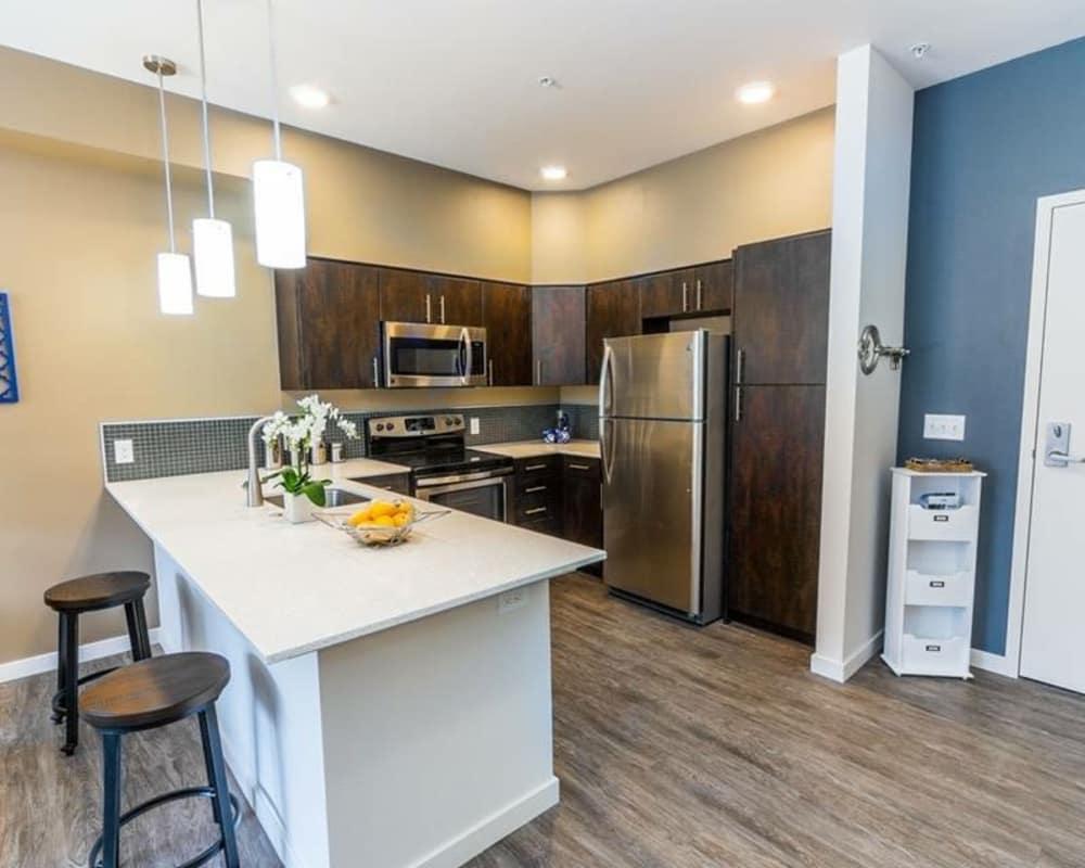 South Block Apartments offers a unique kitchen in Salem, Oregon
