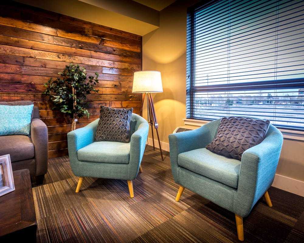 State-of-the-art clubhouse at South Block Apartments in Salem, Oregon