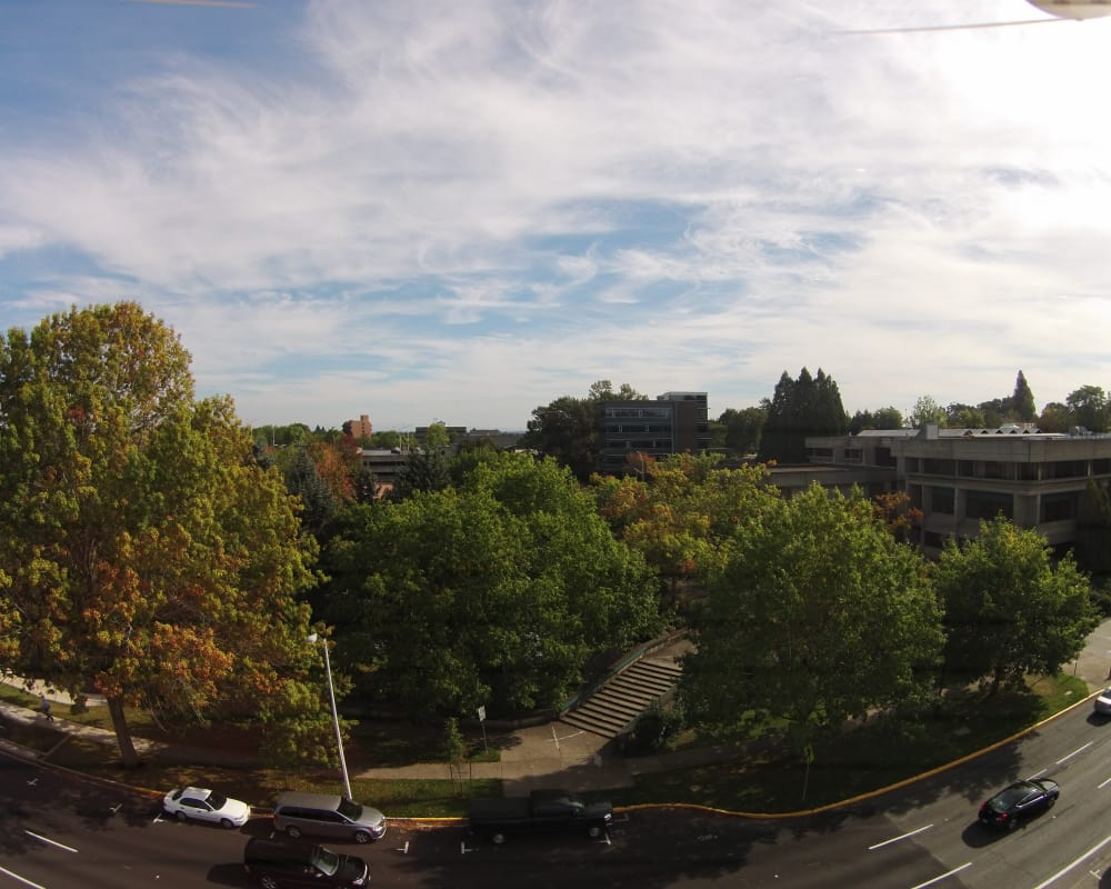 Aerial view from South Block Apartments in Salem, Oregon