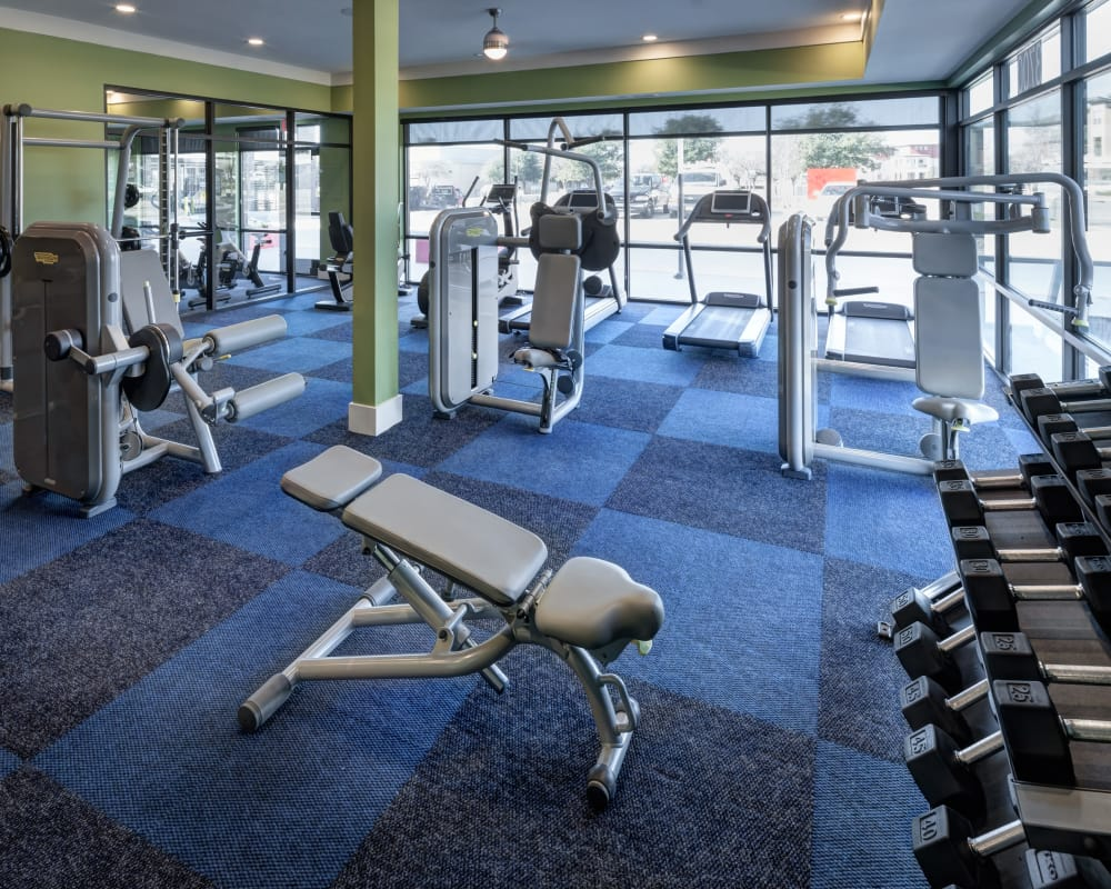 State-of-the-art fitness center for residents at Axis 3700 in Plano, Texas